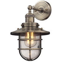 ELK Lighting Seaport 1 Light Sconce in Antique Brass 66376/1