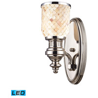 ELK Lighting Chadwick 1 Light Wall Sconce in Polished Nickel 66410-1-LED