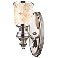 ELK Lighting Chadwick 1 Light Wall Sconce in Polished Nickel 66410-1