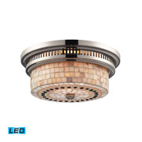 ELK Lighting Chadwick 2 Light Flush Mount in Polished Nickel 66411-2-LED