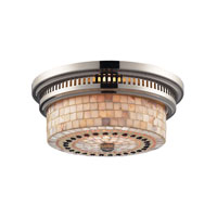 ELK Lighting Chadwick 2 Light Flush Mount in Polished Nickel 66411-2