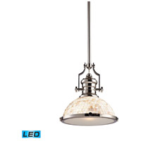 ELK 66413-1-LED Chadwick LED 13 inch Polished Nickel Pendant Ceiling Light