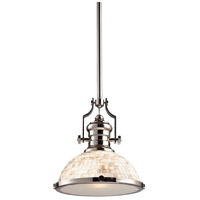 ELK Lighting Chadwick 1 Light Pendant in Polished Nickel 66413-1