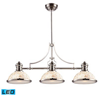 ELK Lighting Chadwick 3 Light Billiard/Island in Polished Nickel 66415-3-LED