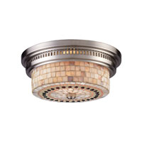 ELK Lighting Chadwick 2 Light Flush Mount in Satin Nickel 66421-2