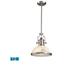 ELK 66423-1-LED Chadwick LED 13 inch Satin Nickel Pendant Ceiling Light
