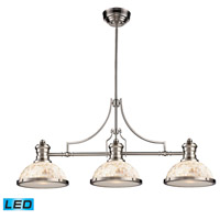 ELK Lighting Chadwick 3 Light Billiard/Island in Satin Nickel 66425-3-LED