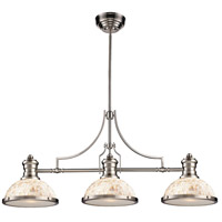 ELK 66425-3 Chadwick 3 Light 47 inch Satin Nickel Billiard Light Ceiling Light in Incandescent