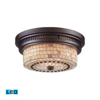 Chadwick LED 13 inch Oiled Bronze Flush Mount Ceiling Light