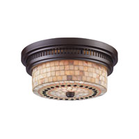ELK Lighting Chadwick 2 Light Flush Mount in Oiled Bronze 66431-2