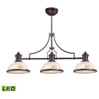 ELK 66435-3-LED Chadwick LED 47 inch Oiled Bronze Billiard Light Ceiling Light