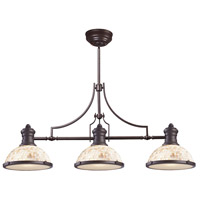 ELK 66435-3 Chadwick 3 Light 47 inch Oiled Bronze Billiard Light Ceiling Light in Incandescent