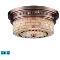 Chadwick LED 13 inch Antique Copper Flush Mount Ceiling Light