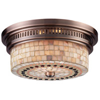 ELK Lighting Chadwick 2 Light Flush Mount in Antique Copper 66441-2