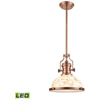 Chadwick LED 13 inch Antique Copper Pendant Ceiling Light