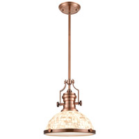 ELK 66443-1 Chadwick 1 Light 13 inch Antique Copper Pendant Ceiling Light in Incandescent