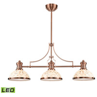 ELK 66445-3-LED Chadwick LED 47 inch Antique Copper Billiard Light Ceiling Light
