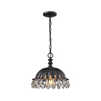 ELK Lighting Zuella 1 Light Pendant in Matte Black 66460/1