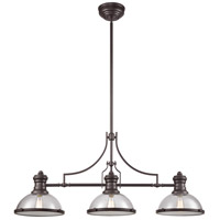 Chadwick 3 Light 47 inch Oil Rubbed Bronze Billiard Island Ceiling Light