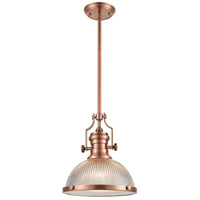 ELK 66543-1 Chadwick 1 Light 13 inch Antique Copper Pendant Ceiling Light
