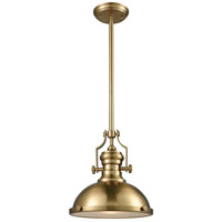 ELK 66594-1 Chadwick 1 Light 13 inch Satin Brass Pendant Ceiling Light