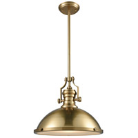 Chadwick 1 Light 17 inch Satin Brass Pendant Ceiling Light