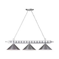 ELK Lighting Gameroom 3 Light Billiard/Island in Brushed Nickel 66600-3-LED