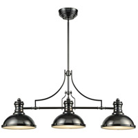 ELK 66605-3 Chadwick 3 Light 47 inch Black Nickel Billiard Light Ceiling Light