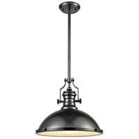 ELK 66608-1 Chadwick 1 Light 17 inch Black Nickel Pendant Ceiling Light