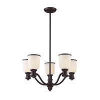 ELK 66673-5 Signature 5 Light 25 inch Oiled Bronze Chandelier Ceiling Light