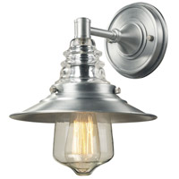 ELK 66700-1 Insulator Glass 1 Light 12 inch Brushed Aluminum Outdoor Wall Sconce