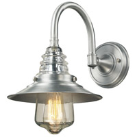 ELK 66702-1 Insulator Glass 1 Light 14 inch Brushed Aluminum Outdoor Wall Sconce
