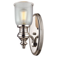 ELK Lighting Chadwick 1 Light Wall Sconce in Polished Nickel 66780-1