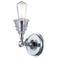 ELK 66800-1 Insulator Glass 1 Light 5 inch Polished Chrome Wall Sconce Wall Light