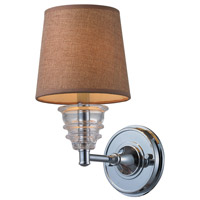 ELK 66801-1 Insulator Glass 1 Light 7 inch Polished Chrome Wall Sconce Wall Light