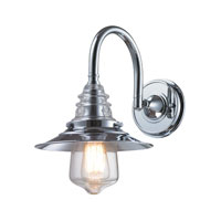 Insulator Glass 1 Light 9 inch Polished Chrome Wall Sconce Wall Light