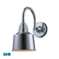 ELK Lighting Insulator Glass 1 Light Wall Sconce in Polished Chrome 66803-1-LED