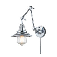 ELK Lighting Insulator Glass 1 Light Swingarm in Polished Chrome 66806-1