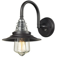 ELK 66812-1 Insulator Glass 1 Light 9 inch Oiled Bronze Wall Sconce Wall Light