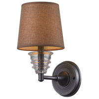 ELK 66821-1 Insulator Glass 1 Light 7 inch Weathered Zinc Wall Sconce Wall Light