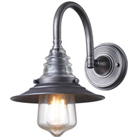 ELK 66822-1 Insulator Glass 1 Light 9 inch Weathered Zinc Wall Sconce Wall Light