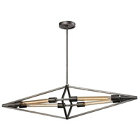 ELK Lighting Laboratory 4 Light Chandelier in Weathered Zinc 66893/4B