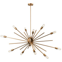 Xenia 14 Light 54 inch Matte Gold Island Light Ceiling Light