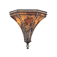 Mica 2 Light 14 inch Weathered Bronze Sconce Wall Light