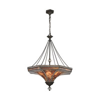 ELK Lighting Mica 8 Light Pendant in Weathered Bronze 66921/8
