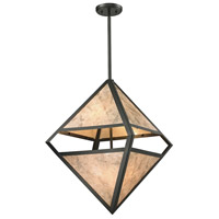 ELK 66931/4 Mica 4 Light 18 inch Oil Rubbed Bronze Pendant Ceiling Light