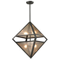 ELK 66941/4 Mica 4 Light 18 inch Oil Rubbed Bronze Pendant Ceiling Light