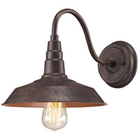Urban Lodge 1 Light 10 inch Weathered Bronze Sconce Wall Light