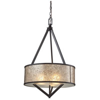 ELK 66951/3 Mica 3 Light 20 inch Oil Rubbed Bronze Pendant Ceiling Light