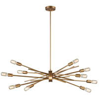 Xenia 10 Light 40 inch Matte Gold Chandelier Ceiling Light